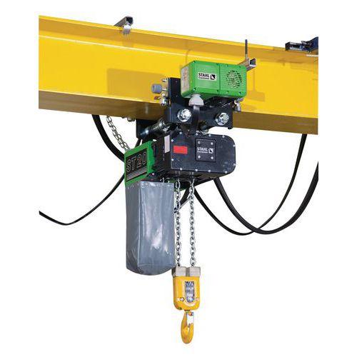 Diferencial elétrico Stahl com carro elétrico - Capacidade de 1000 a 5000 kg