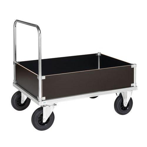 Carro de transporte, em aço - 4 lados integrais baixos - 1 pega - Capacidade de carga de 500kg