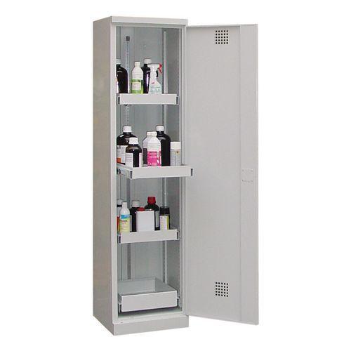 Armário de proteção para produtos perigosos com gavetas