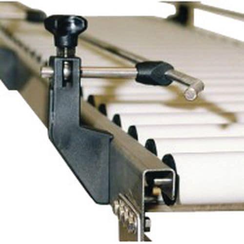 Guias bilaterais para transportador gravítico de rolos e curvas em inox – Somefi