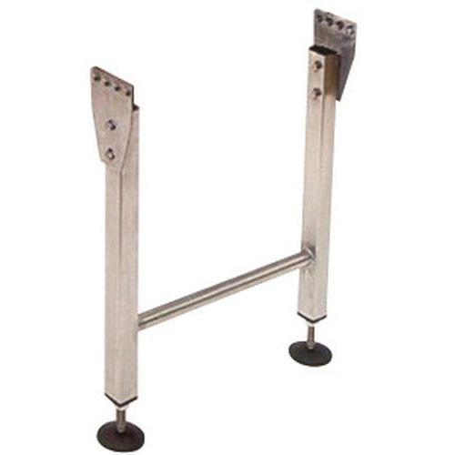 Bipés para transportador gravítico em inox com rolos de PVC – Somefi