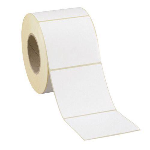 Rolo de etiquetas de papel velino branco