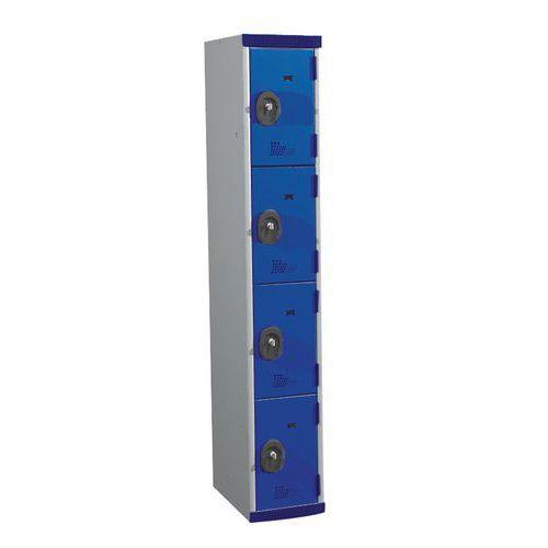 Cacifos com 4 compartimentos Seamline Optimum® – largura da coluna: 300mm – Acial
