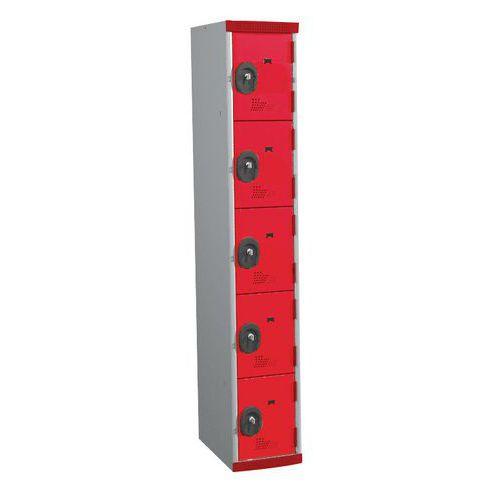 Cacifos com 5 compartimentos Seamline Optimum® – largura da coluna: 300mm – Acial