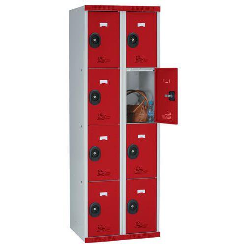 Cacifo com 8 compartimentos Seamline Optimum® – 2 colunas de 300mm de largura – Com base – Acial