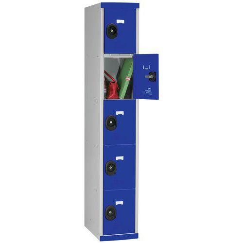 Cacifo com 5 compartimentos Seamline Optimum® – 1 coluna de 300mm de largura – Com base – Acial