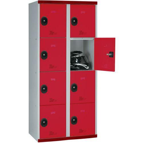 Cacifo com 8 compartimentos Seamline Optimum® – 2 colunas de 400mm de largura – Com base – Acial