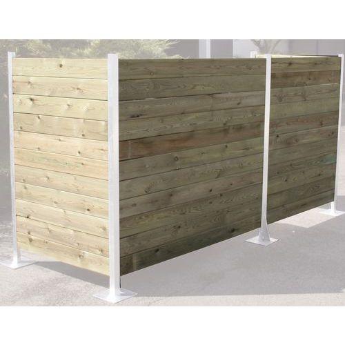 Ripa de madeira para resguardo de contentores