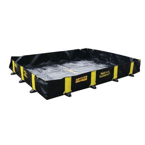Barreira de retenção portátil Quickberm® com suportes rígidos