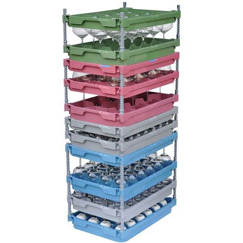 Compartimento de copos para caixa de plástico de 600x400mm