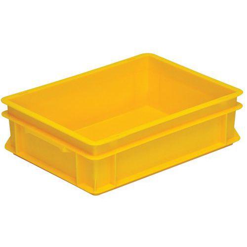 Caixa empilhável amarela de norma europeia RAKO – 10 a 42L