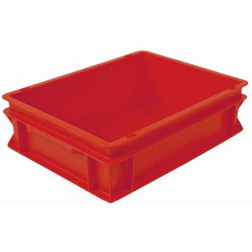 Caixa empilhável vermelha de norma europeia RAKO – 10 e 21L