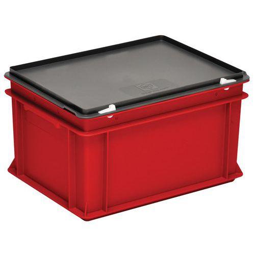 Caixas vermelhas com tampa RAKO – 400 x 300mm – 10 a 60L