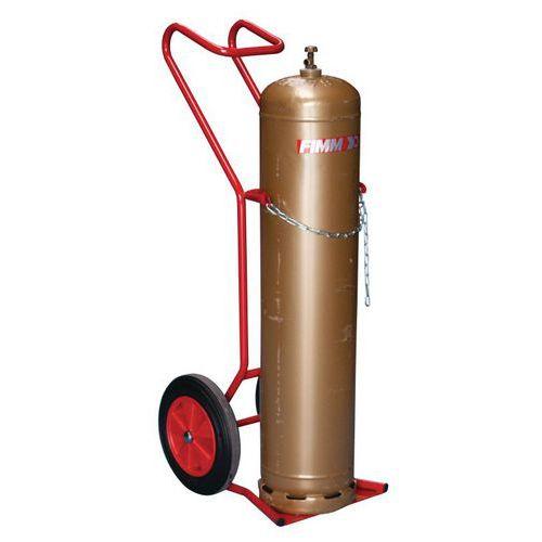Porta-cargas para garrafas - Rodas em borracha - Capacidade de 250 kg