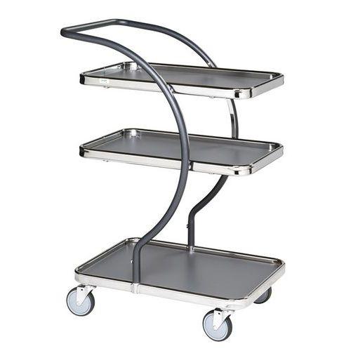 Carro de plataformas em metal C-Line - Capacidade de 120 kg