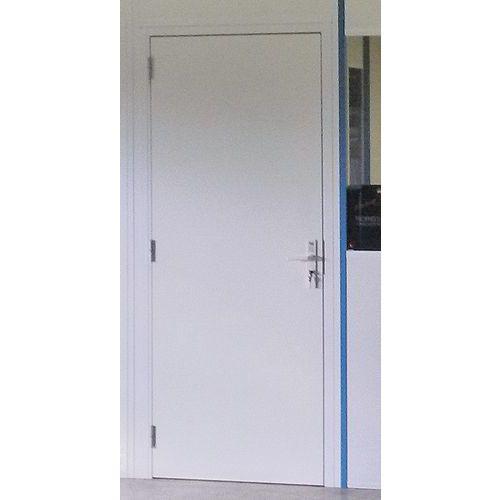 Porta rebatível para divisórias de oficina em melamina - Painel integral - Altura 2,53 m