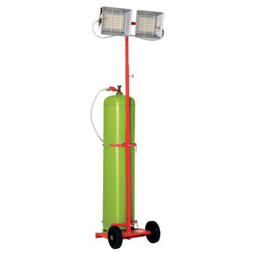 Aquecimento radiante - Com gás propano - Móvel