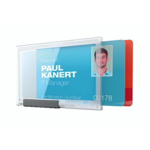 Porta-cartões Pushbox - 1 a 3 cartões