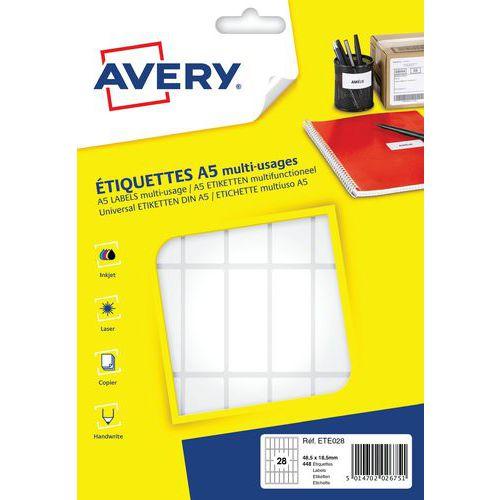 Etiqueta de papel autocolante para vários suportes