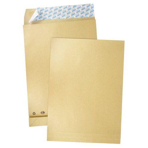 Envelope kraft com armação castanho de 130g – Com folos – Pacote de 50