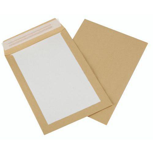 Envelope com verso em cartão kraft castanho de 120g – caixa de 100