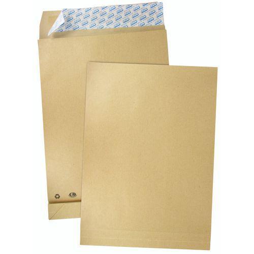 Envelope em cartão kraft castanho de 120kg – foles de 3cm – pacote de 50