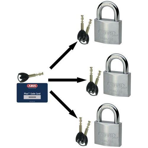 Cadeado Abus Plus série 88 - Com chave-mestra - 2 chaves