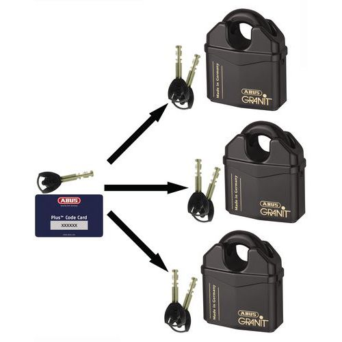 Cadeado Granit blindado série 37 - Para chave-mestra - 2 chaves