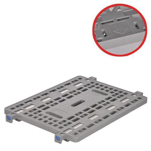 Plataforma plástica para contentor móvel