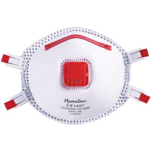 Semimáscara respiratória tipo concha de utilização única FFP3 - Manutan