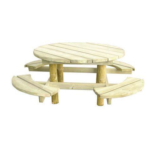 Mesa de piquenique redonda - Pinho