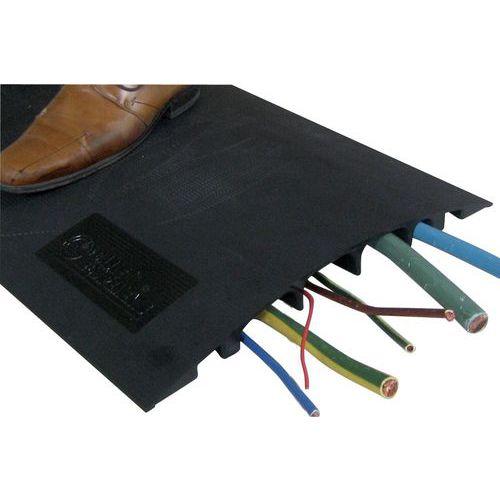 Calha de chão para passagem de cabos – 7 cabos