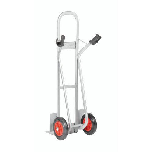 Porta-cargas em aço - Rodas em borracha - Aba fixa - Capacidade de 350 kg