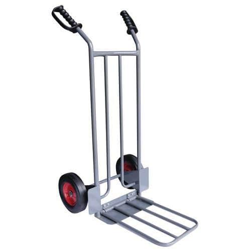 Transportador em aço de 250kg – Rodas em borracha – Manutan