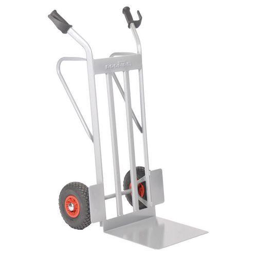 Transportador em aço – rodas pneumáticas – aba fixa – capacidade de 350 kg