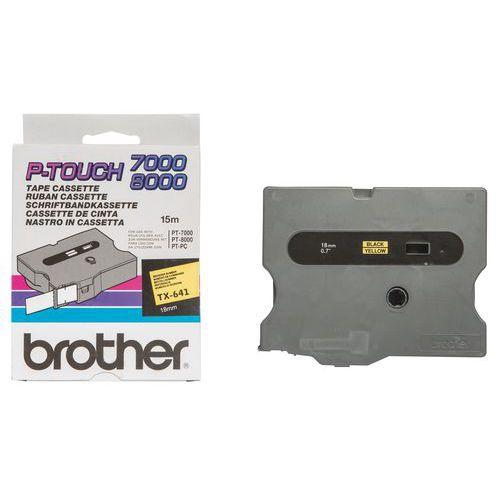 Cassetes de fita para máquina de etiquetar Brother - Largura 18 mm