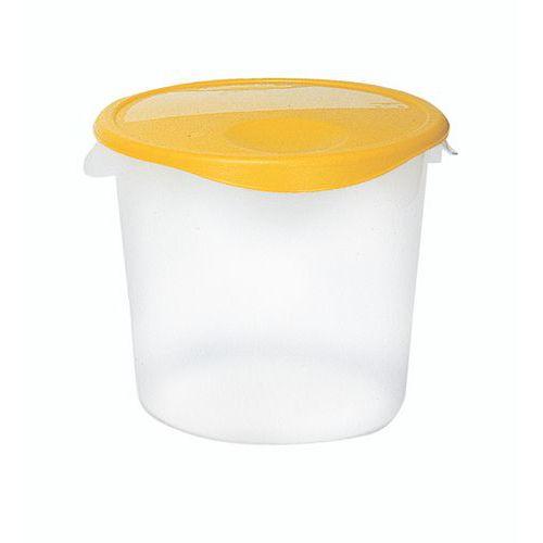 Recipiente plástico redondo para armazenamento