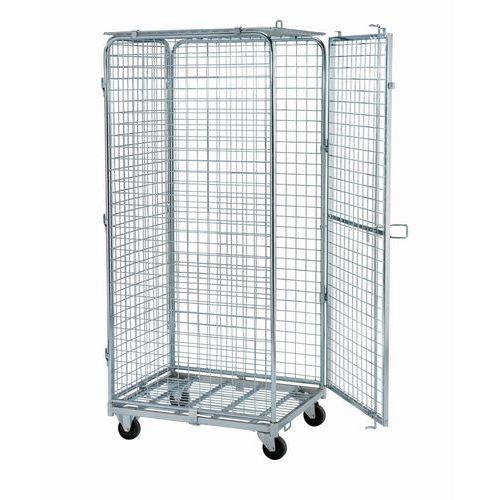 Contentor móvel de segurança - Base aço - Capacidade 400 kg