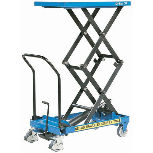 Mesa elevatória móvel - Capacidade de carga de 125 kg