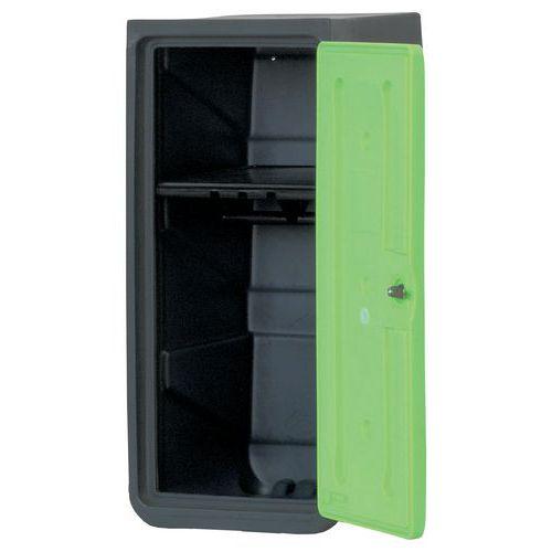 Cacifo médio de plástico – com base – com prateleira porta-cabides