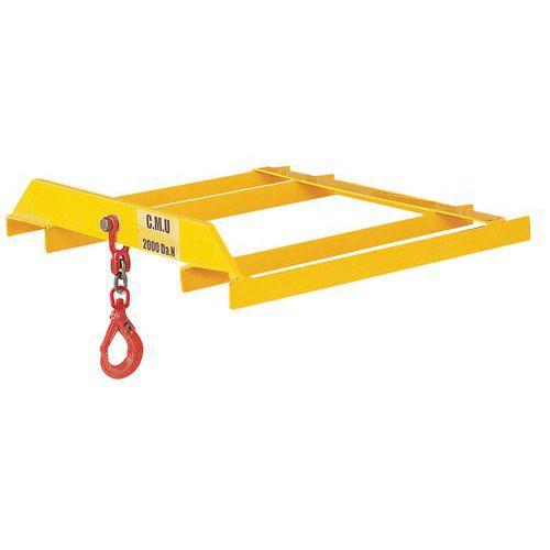 Gancho de elevação para empilhador de garfos - Capacidade 3000 kg