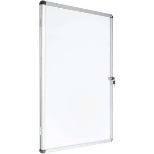 Vitrina de interior Manutan de 1 porta – fundo em alumínio – porta em vidro