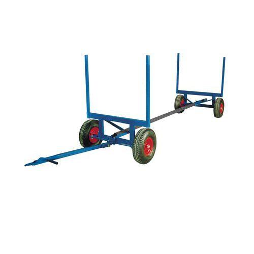 Carro telescópico para materiais compridos - Capacidade de 3500 kg