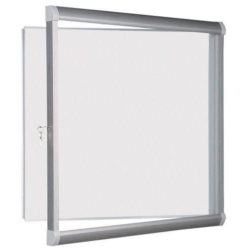 Vitrina de interior Design – Fundo em alumínio – Porta de segurança em vidro