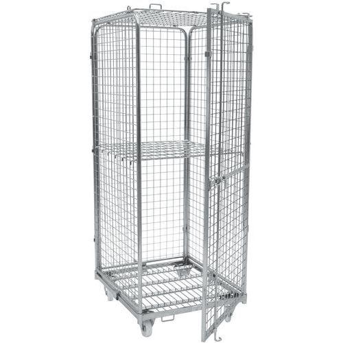 Contentor móvel de segurança – Base em aço zincado – Capacidade de 400kg – Manutan