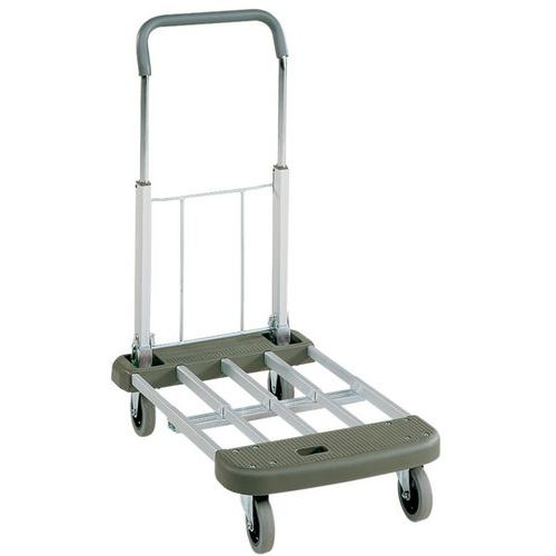 Carro em alumínio e plástico, dobrável - capacidade de carga de 150kg