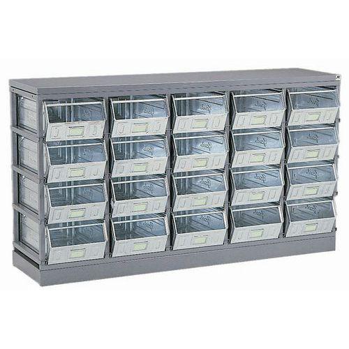 Bastidor de arrumação para recipientes e caixas de bico