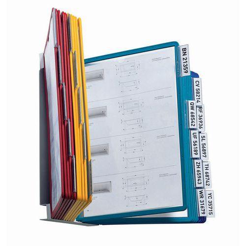 Porta documentos de parede Vario – com 20 bolsas sortidas – A4