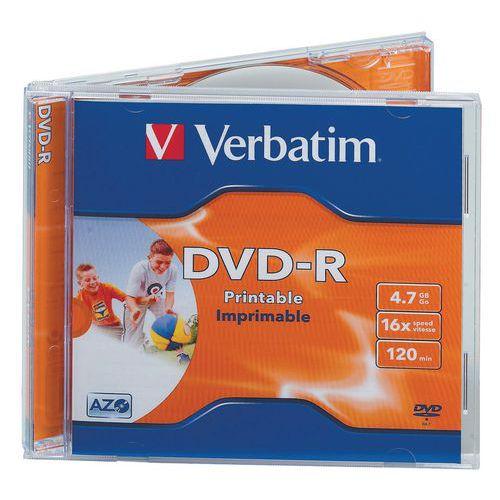 DVD-R imprimível 16X - Lote de 10 Verbatim