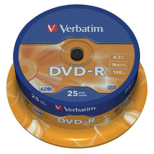 DVD-R - Matt Silver 16X- lote de 25 Verbatim